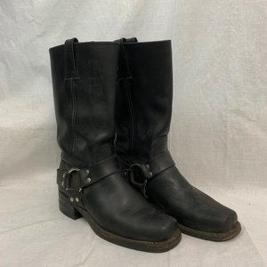 Frye Black Leather Engineer Boots Women's Size 7
